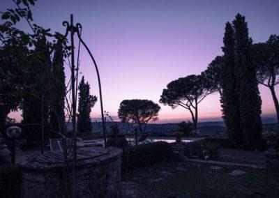 Villa Santo Stefano_pozzo tramonto